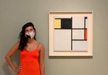 Passatempo - Máscara comunitária Mondrian Museu Coleção Berardo - Museum mask