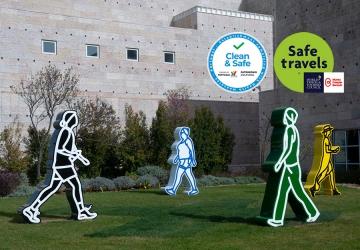 Entrada Gratuita de 25 de junho a 31 de julho Comemoração do 13.º Aniversário do Museu - selo Safe and Clean, Stamp Safe Travels    Museu Coleção Berardo, Lisboa